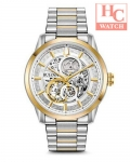 Bulova 98A214 Men's Automatic Two Tone Stainless Steel Skeleton Dial 43mm Watch