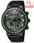 Citizen Eco-Drive CC3075-80E Satellite Wave GPS F150 World Time Sapphire Black IP Watch