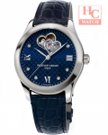 FREDERIQUE CONSTANT FC-310NDHB3B6 Double Heart Beat Automatic Diamond Blue Dial Ladies Blue Leather Watch