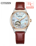 CITIZEN PC1008-11Y Automatic Ladies Sapphire Crystal Cherry Blossoms Red Leather
