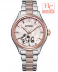 Citizen Stars Watch PC1016-81D Automatic Sapphire Bracelet with Free Leather