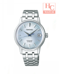 New Seiko Presage Cocktail SRP841J1 Skydiving Ice Blue Dial Automatic Made in Japan Stainless Steel Ladies Watch