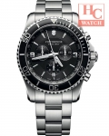 Victorinox Swiss Army Maverick 241695 Chronograph Black Dial Stainless Steel Men's Watch
