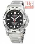 Victorinox Swiss Army I.N.O.X. 241781 Professional Diver Black Dial Men's Steel Watch
