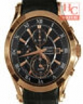 SEIKO Premier SNAF24P1 ST.Steel Quartz Sapphire Chrono Leather Men's Watch